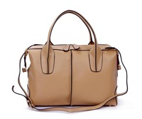 Free shipping Retail/ wholesale two usage five colors  two size  good quality  Genuine leather fashion handbag/shoulder bag