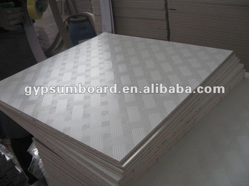 603 603 mm suspendu pvc gypse faux plafond tuiles de for Fou plafond platre