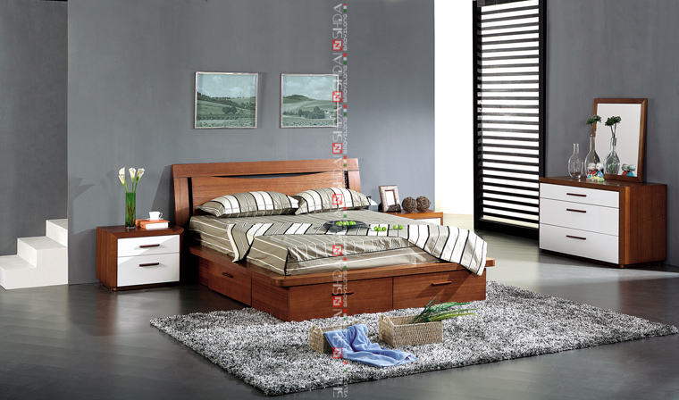 Modern wood double bed designs with box / latest wooden box bed design ...
