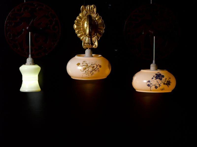 Porcelain Lamp Shade Lamp,bone China Lamp Shade