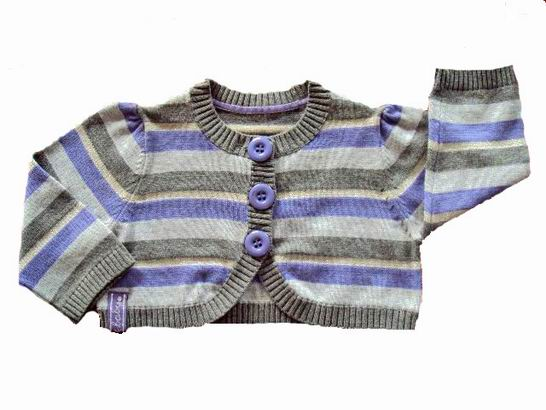 Baby striped cotton knitwear cardigan