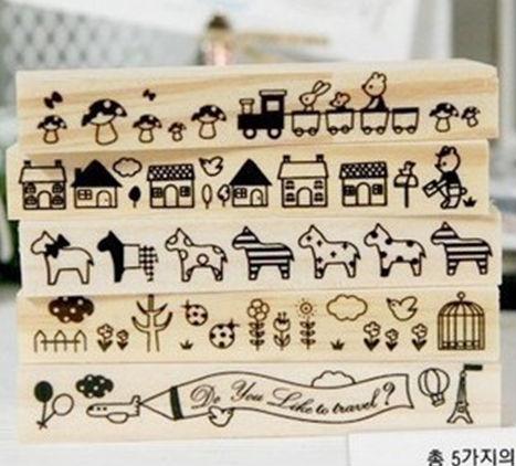 schöne briefmarken set für kinder aus holz stempel briefmarken zum verkauf
