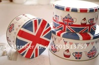 Min order$20(mixed items) UK Style Can Storage Can Set3 jar container Tin case