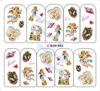 Наклейки для ногтей 20sheets/lot Nail Art Sticker Water Transfer Decals BOP person