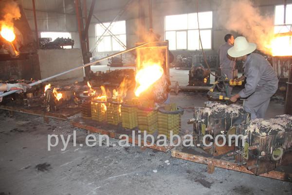 Long stem casting steel flanged gate valve dn100