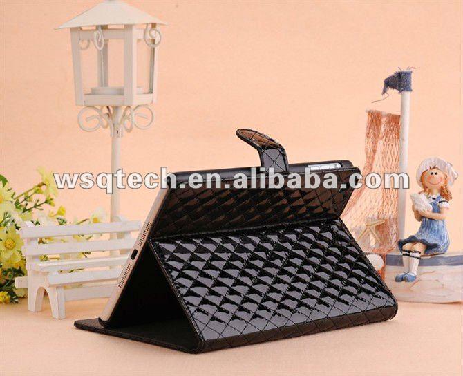 Wholesale upright PU leather belt clip case for ipad mini