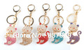 New Ring Key Red Engraved Lanyard Heart Shape Keychains For Wallents Valentine Gifts For Couple/Lovers Free Shipping