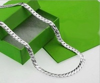 Колье-цепь EVYSTZXL Top quality silver men chain necklace fashion silver jewelry