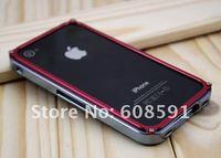 высокое качество лезвия металлический бампер случае для iphone 4 4s, алюминиевый бампер лезвием случае coverfor iphone 4 4 g 4-4s