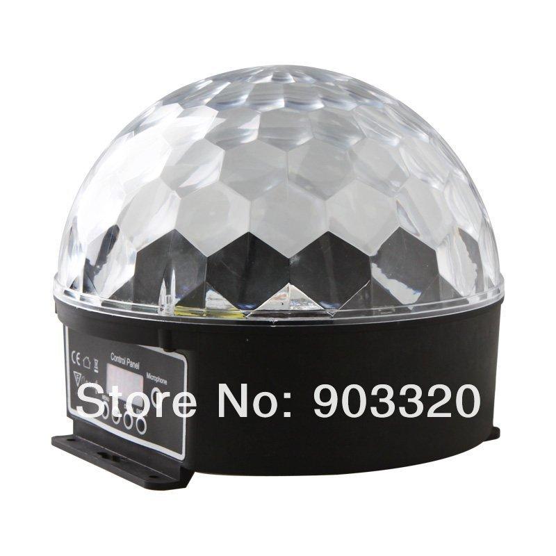Купить Бесплатная Доставка 6 Канала DMX512 Управления Цифровой СВЕТОДИОДНЫЙ RGB Кристалл Magic Ball Световой эффект С ЖК-Дисплеем, DMX Диско DJ Свет Этапа