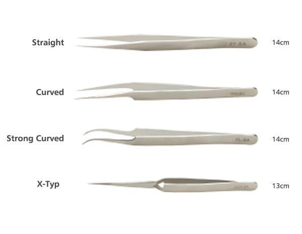 Tweezers for eyelash extension