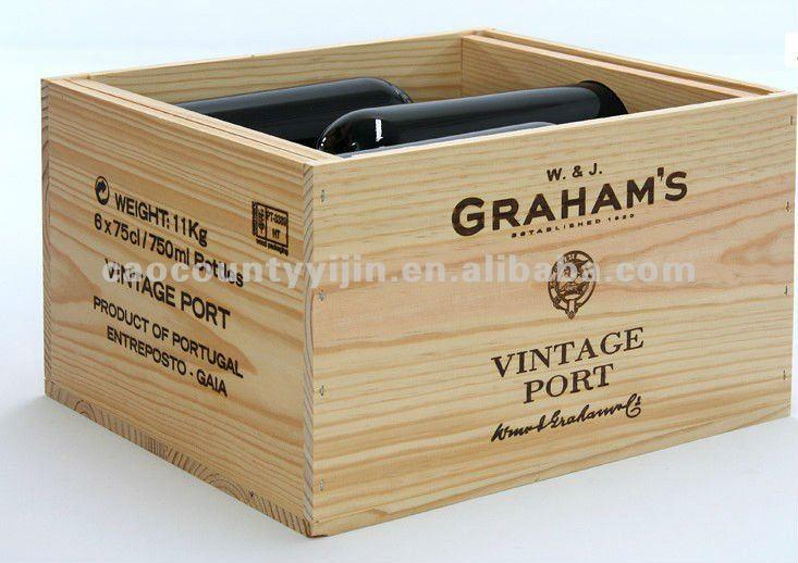 Wooden Wine Crates uk Six Bottles Wooden Wine Crate