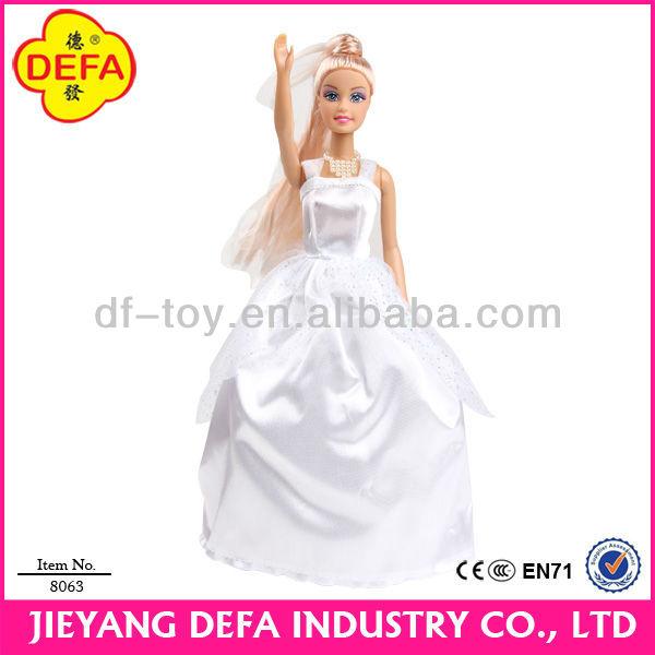 11.5 inch plastic beautiful princess dress up game doll