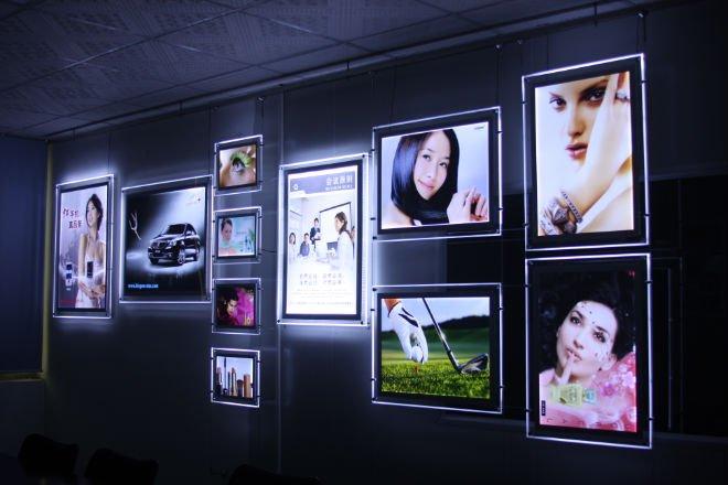 Crystal LED snap frame poster board,light up poster frame ...
