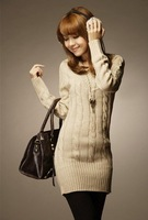 Женский пуловер Simple Design Leisure V Collar Long Sleeve Pure Color Woman Long Sweater