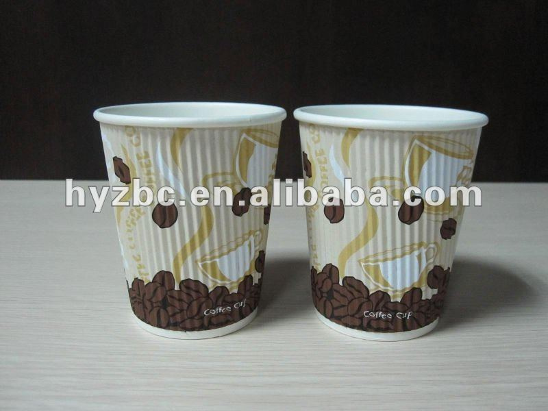 wrapped paper hot cups
