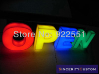 Электронные табло in stock OPEN attractive led lighting sign letters channel letters advertising logos