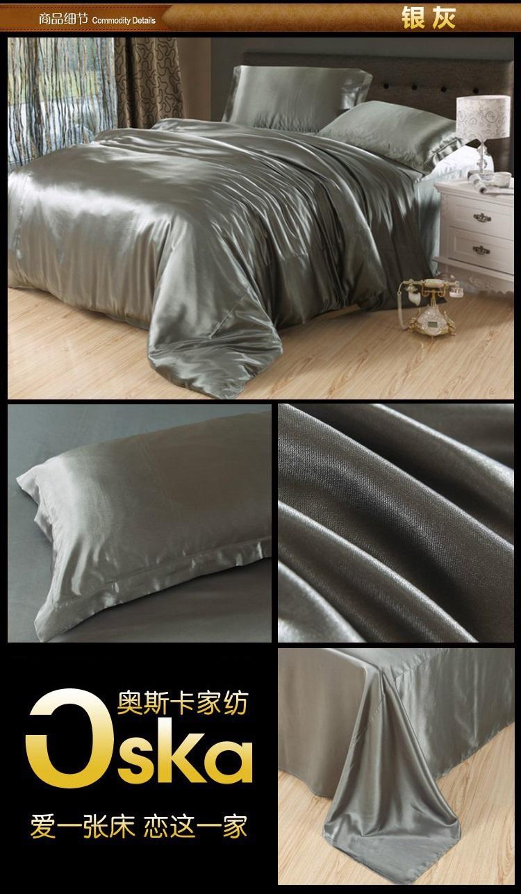 best deals luxury aqua blue mulberry silk bedding set king s