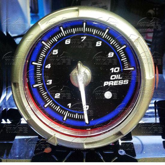 60MM Pink Blue LED Backlight Sensor + Stepping Motor Defi ADVANCE C2 Oil Pressure Press Gauge Meter T2filgXBxXXXXXXXXX_!!326081344