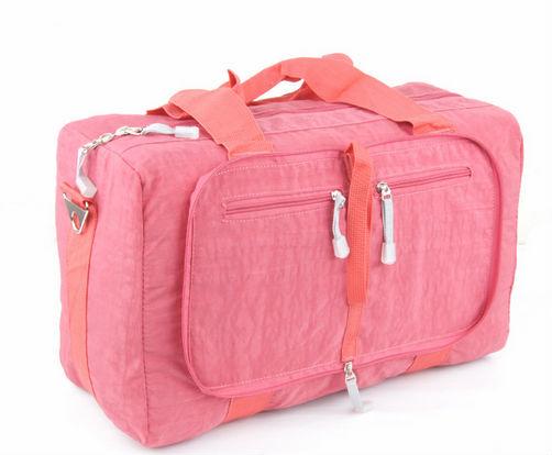 Pink waterproof nylon shoulder hand bag cross travel bag hot sale