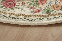 A-160 Beige 160X160cm Round carpet Classic European Country style Chic Floral living room and Bedroom floor Mat RugFree Shipping