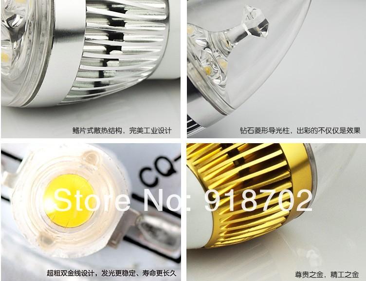 LED candle bulb E27 / 4 W
