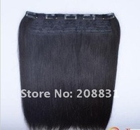 2011 Best selling 16' length width 10' 100% indian remy hair One piece clip in hair extension with 5clips
