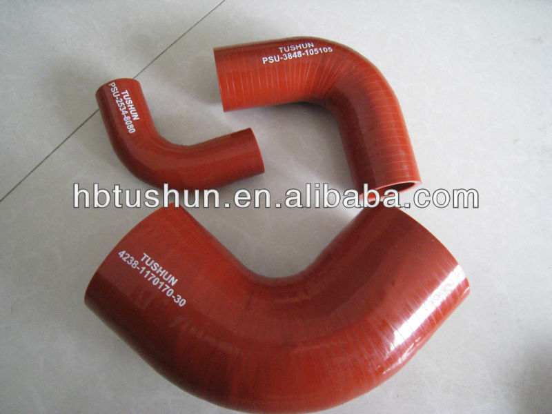 2013 hot sale High performance Auto 90 degree silicone elbow Hose for Volvo/MAN /SCANIA BUS/ Truck