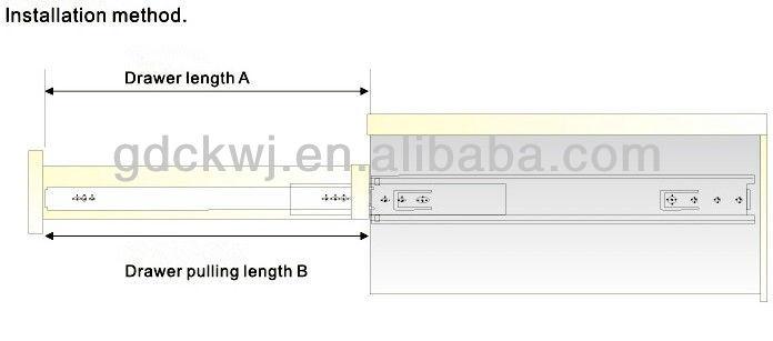 heavy duty ball bearing tool box drawer slides, drawer slide channel for cabinet drawer