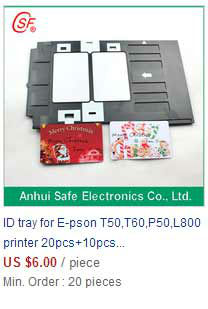 PVC Black card tray,epson inkjet PVC/ID card tray