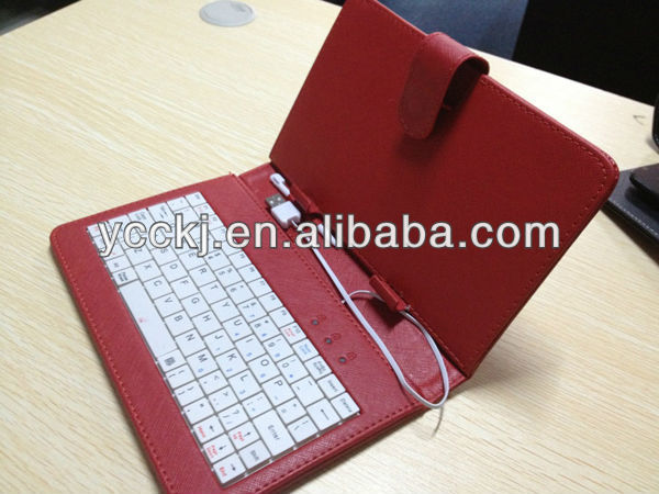 best price ! universal keyboard case for 9.7 tablet Micro Mini USB other size is available high quality made in china