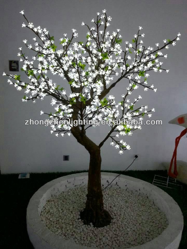 Outdoor Pre Lit Blue Artificial Led Cherry Blossom Tree Light Buy Blue Arti