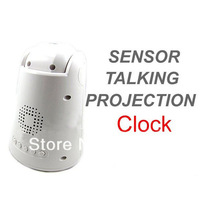 Настольные часы Sound Controlled Backlight and Projection Display Sensor Talking Alarm Clock
