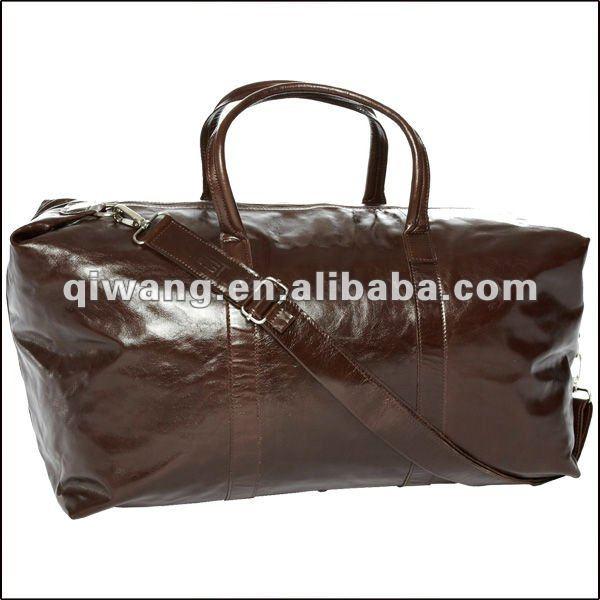 men's weekend nappa genuine leather travel bag