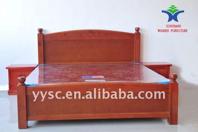Mod?le De Lit Adulte En Bois : Classique en bois massif lit XC-WB800-Literie-ID de produit:745672766