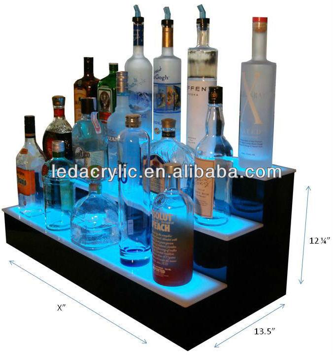 34 inch 2 tier liquor bottle shelf black bar alcohol. Black Bedroom Furniture Sets. Home Design Ideas