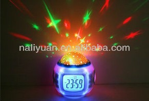 2014 Fashion desktop colorful clock with calendar