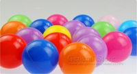 Детская игрушка 50pcs/lot 6.5cm plastic toy ball colourful ocean wave balls, funny toy for children