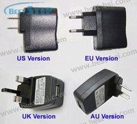 Зарядное устройство CN Post New Universal Wall Micro USB Charger Adapter for ipod Mp3 Mp4 PDA DV, Output 5V 500mah, EU, AU, US, UK Version