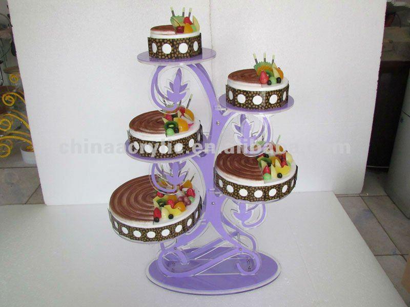 Acrylic Wedding Cake Display Stand