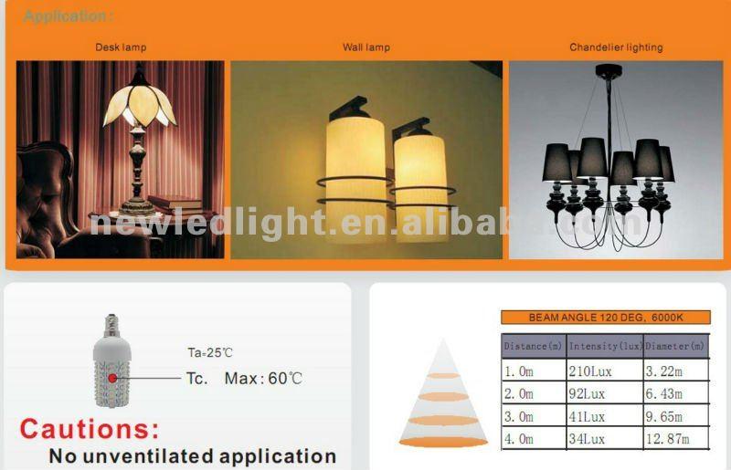 replacement 30W CBL E14 6W led corn cob bulb