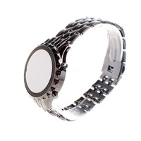 Наручные часы Fashion Digital Ball LED Wrist Watch Clock Alloy Circular Mirror Color Black