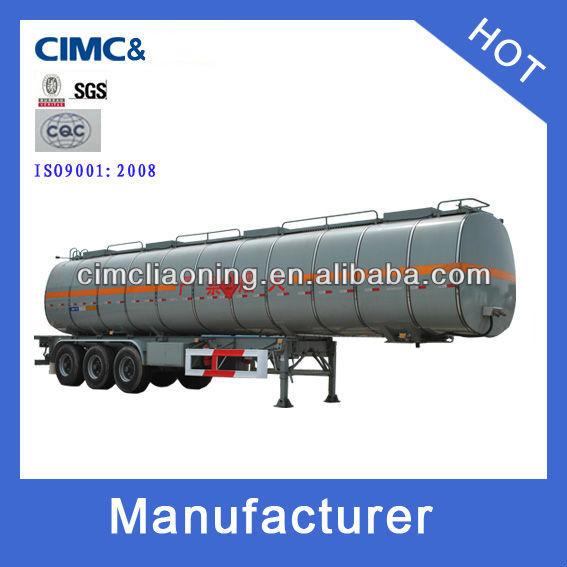 CIMC 40000L carbon steel liquid oil tanker trailer