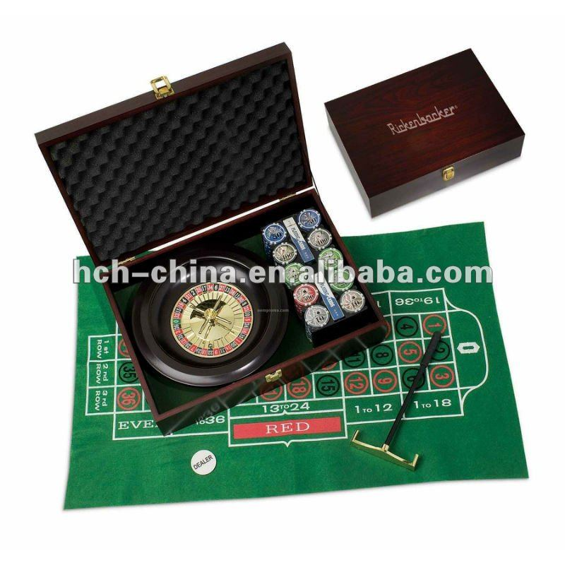 Come With Wooden Case 10 Inch Dia Roulette Wheel Game Set