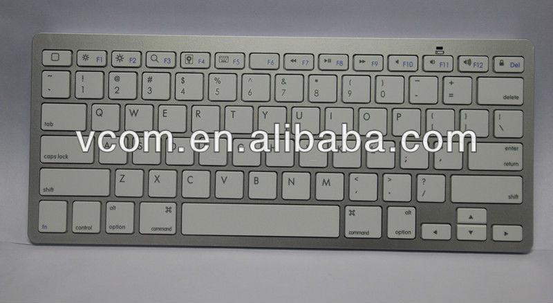 VCOM New Design White Bluetooth Wireless Keyboard
