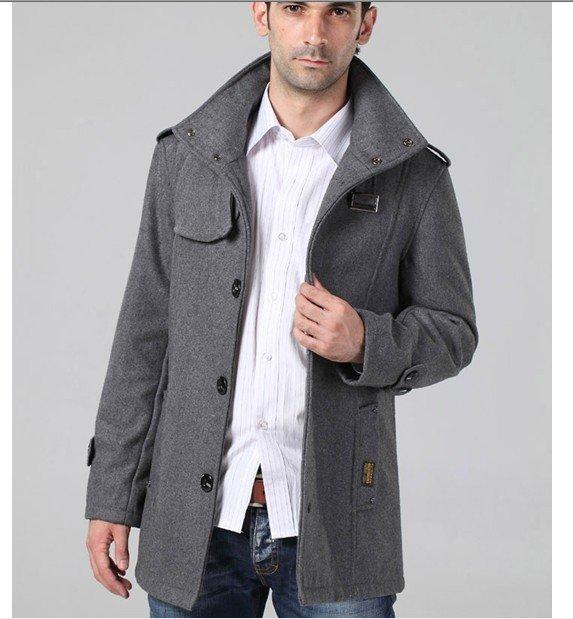 Best Wholesales Men&39S Wool Coat Casual Jacket Fashion Winter