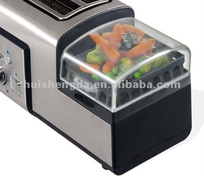 Toaster with Egg Cooker(steam eggs, fry eggs,boiled egg)