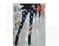 Sexy Women Legging Star and Stripes U.S. national flag fashion Leggings Fitted Pants Tights Cool Free shipping DWBS032
