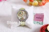 Hot selling Handmade Korea Mini Diamond Dress Women Watches with Secret Garden
