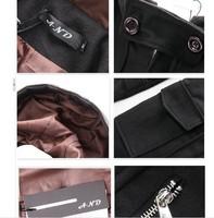 Мужской тренч Men's Fashion Men's Fall 2010 Men's Hooded Long Trench Coat a large pocket design / windbreaker in the long section of men do fr